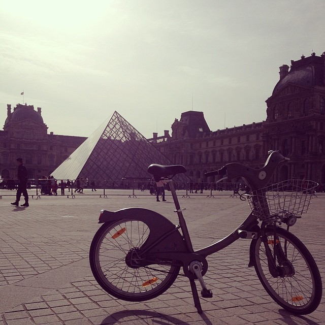 Velib at the Louvre